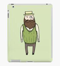 Gentleman with monocle iPad Case/Skin