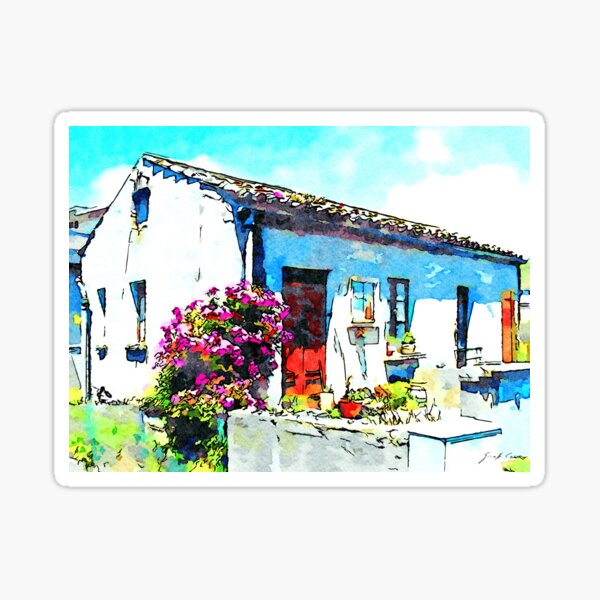 Flower and house Sticker