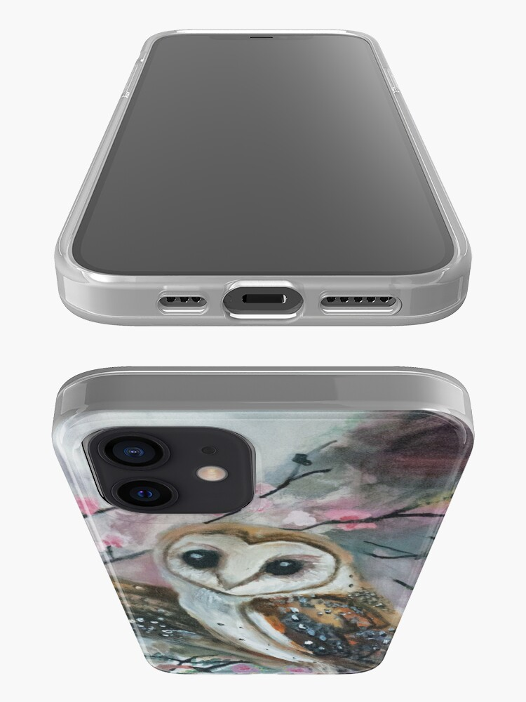 Alternate view of Barn Owls & Cherry Trees iPhone Case & Cover