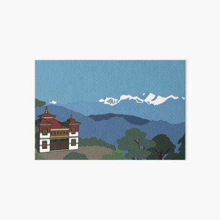 Gompa Darjeeling Art Board Print