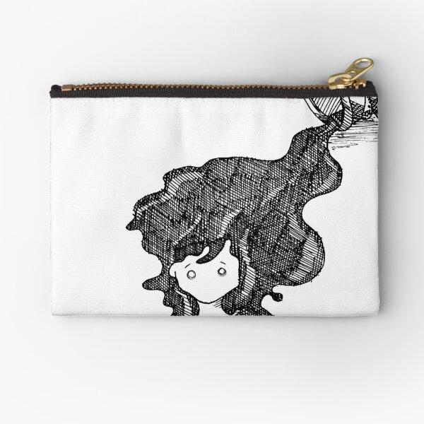 Ink Spill Flowing Hair Zipper Pouch