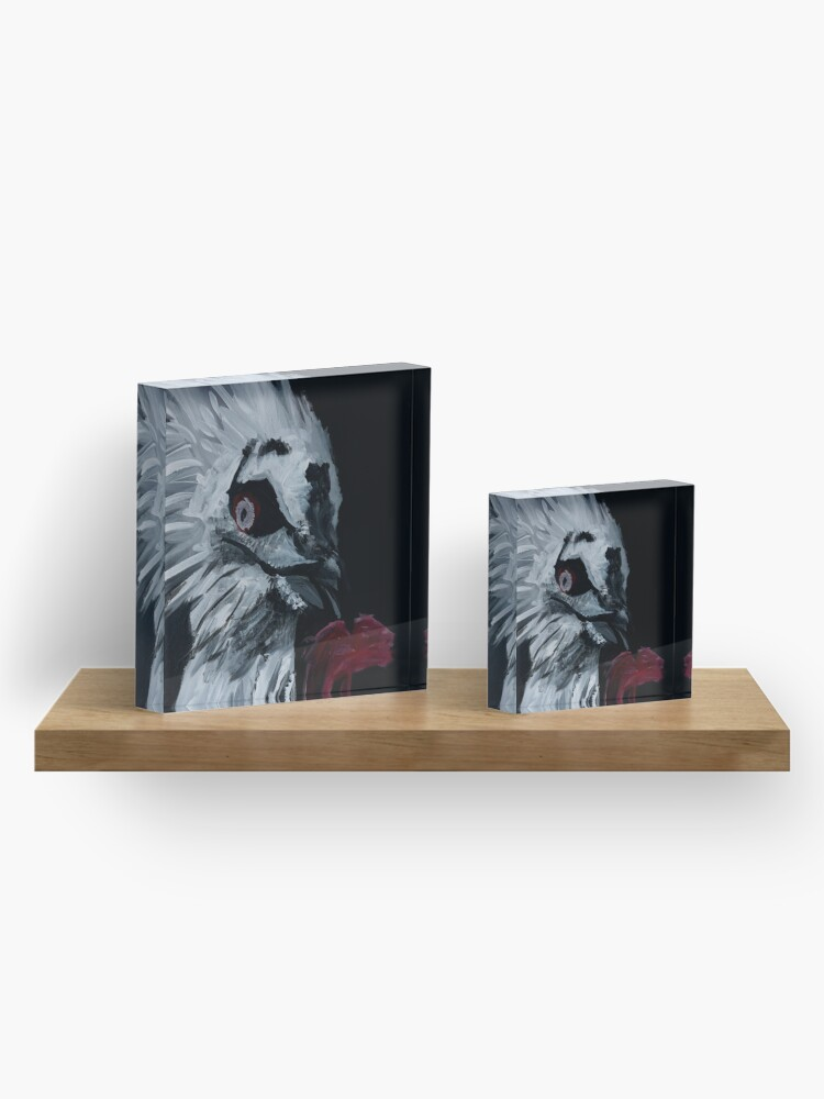 Alternate view of Vulture Eating Acrylic Block