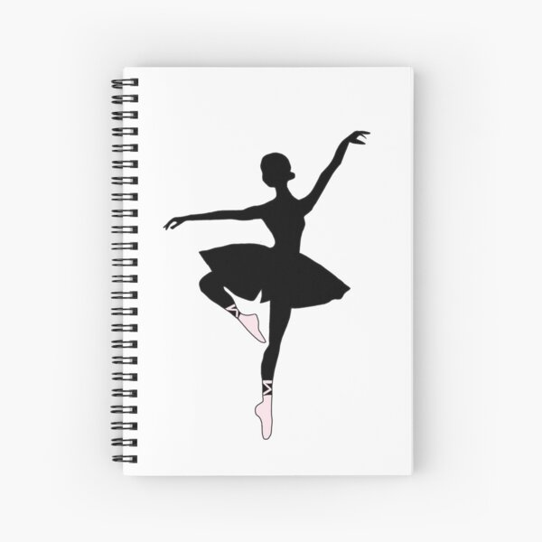 Ballerina Silhouette (black) Spiral Notebook