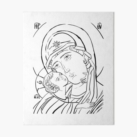 Theotokos Rejoice Art Board Print