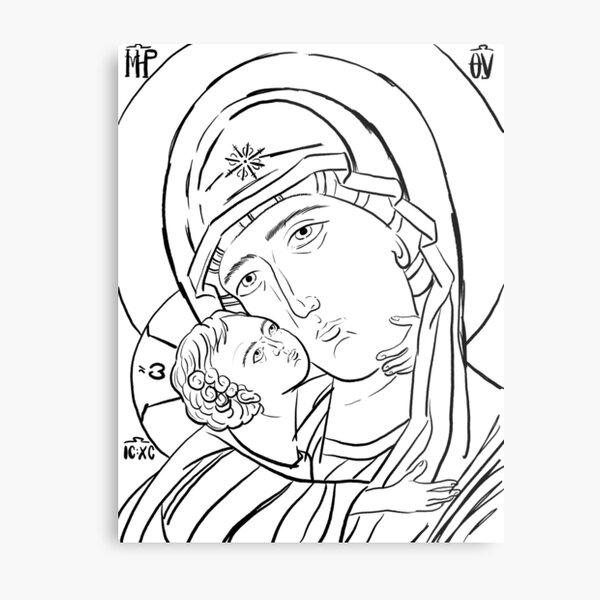 Theotokos Rejoice Metal Print