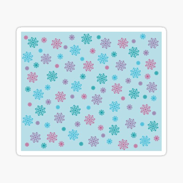 Colorful Winter Snowflakes Sticker