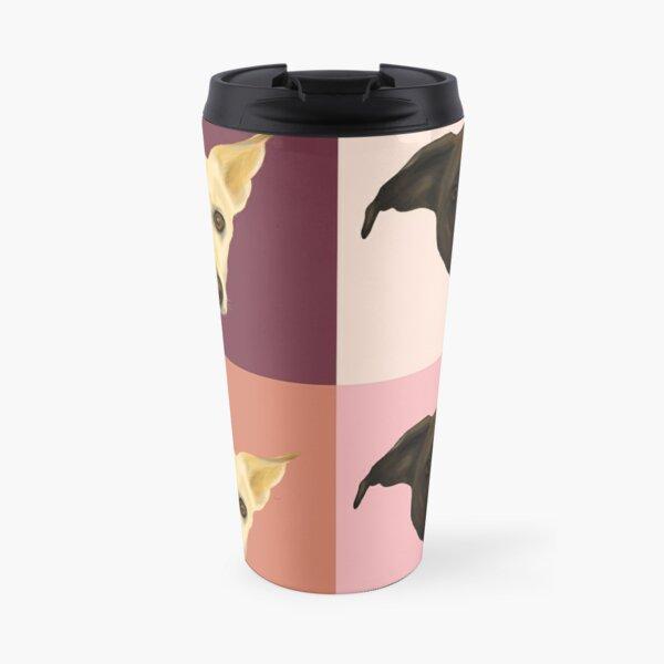 Sweet Dog Portraits - Modern Geometrical Style Travel Mug