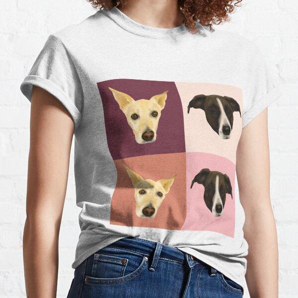 Sweet Dog Portraits - Modern Geometrical Style Classic T-Shirt