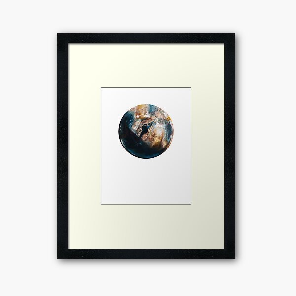 Is there anybody out there? Framed Art Print