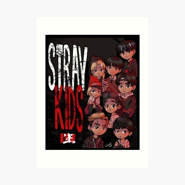 Stray Kids - IN LIFE Chibis Art Print