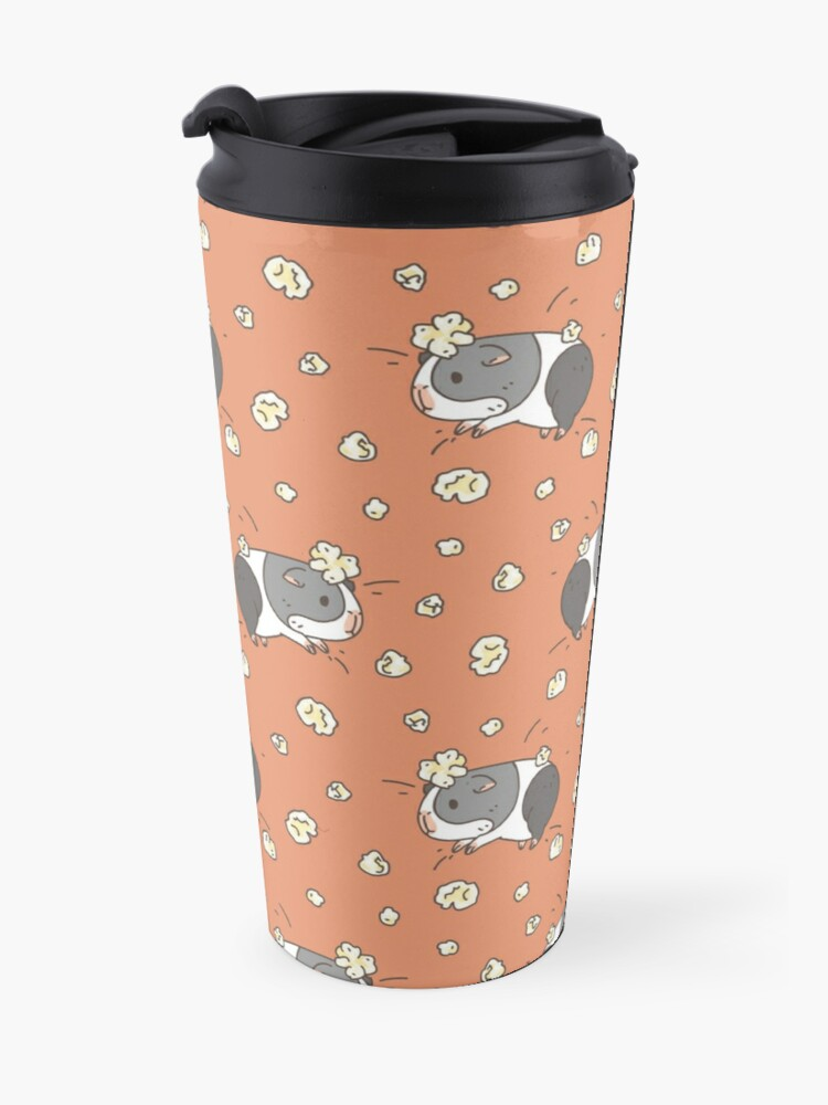 Alternate view of Guinea pig pattern, popcorning  Travel Mug