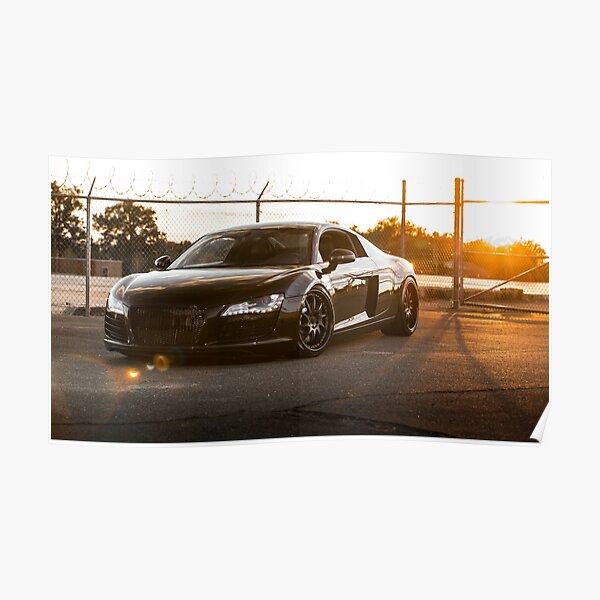 Audi R8 au coucher du soleil Poster