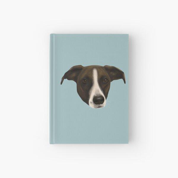 Sweet Pointer Hound Portrait Hardcover Journal