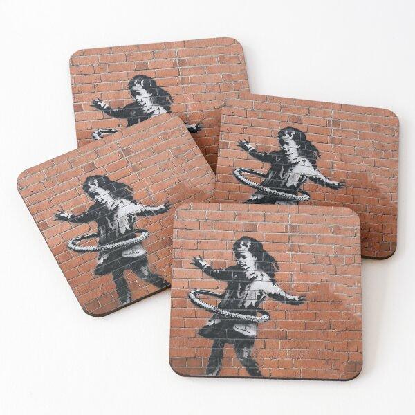 Banksy Hula-Hooping Girl Coasters (Set of 4)