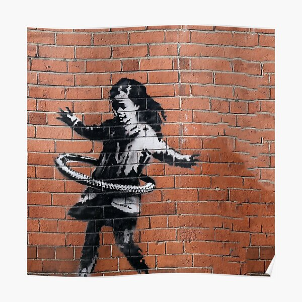 Banksy Hula-Hooping Girl Poster