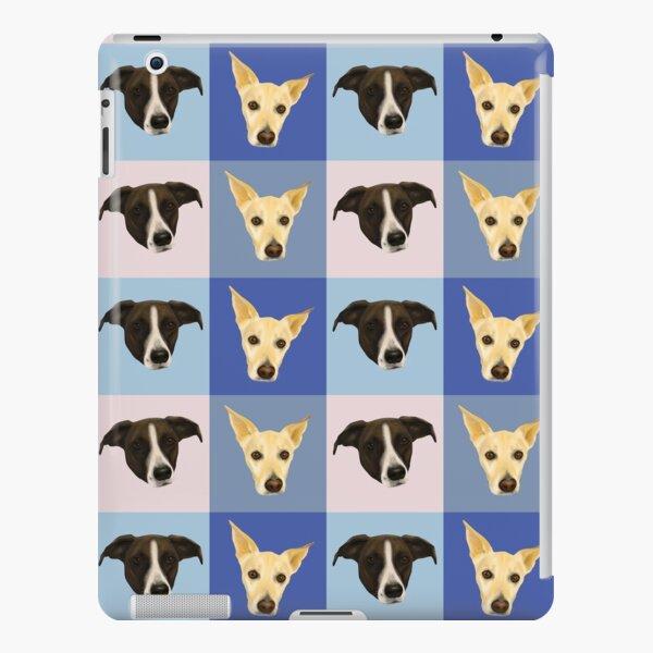 Dog Portraits on Checkered Pattern - Modern Geometrical Style iPad Snap Case