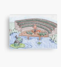 Reddy Fox and the Frog Chorus Canvas Print