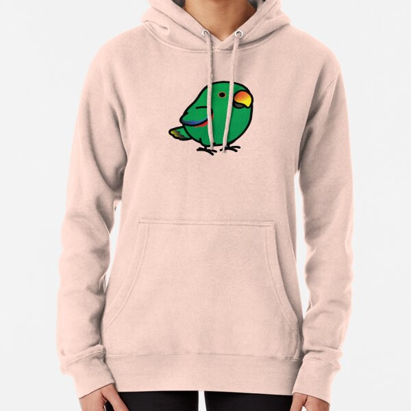 Chubby Male Eclectus Parrot Pullover Hoodie