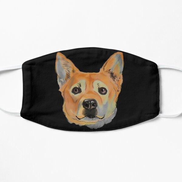 Watercolor Carolina Dog Flat Mask