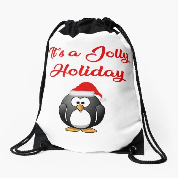 It's a Jolly Holiday Drawstring Bag