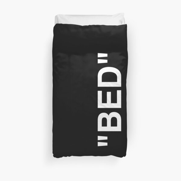 BED | Off White Brand Quotation Marks Hype Streetwear Duvet Cover