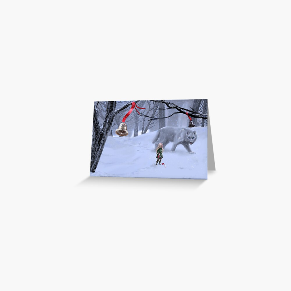 Holiday Winter Wolf Greeting Card