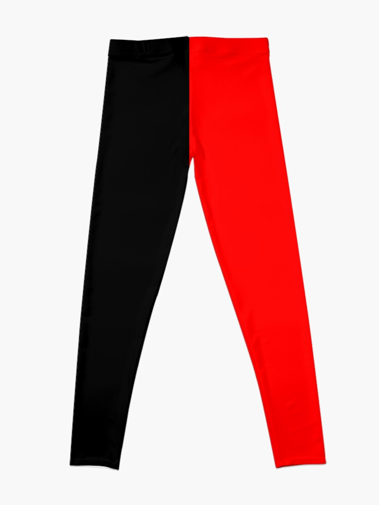 Alternate view of Backpack Half Red Half Black Leggings