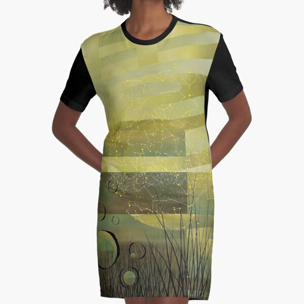 Linguistical Forest Graphic T-Shirt Dress