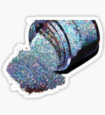 Glitter Spill Sticker