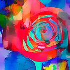 Watercolor Rose by Darlene Lankford