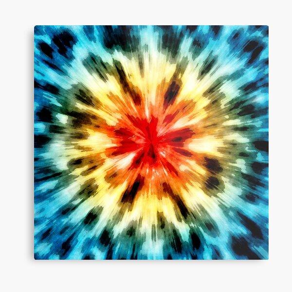 Abstract Starburst Tie Dye Metal Print