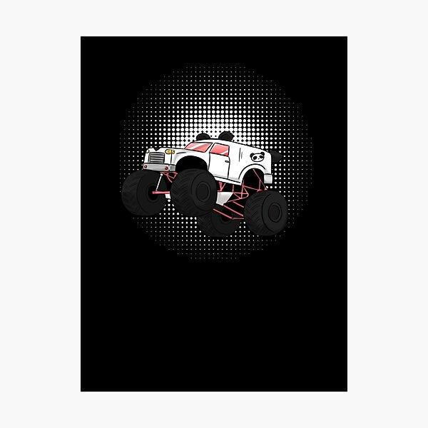 Monster Truck Muscle Car Panda Style Sprung I Geschenkidee Langarmshirt Photographic Print
