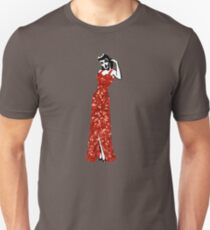 red vintage burlesque pin up Unisex T-Shirt