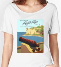 Vintage Discover Puerto Rico WPA Women's Relaxed Fit T-Shirt