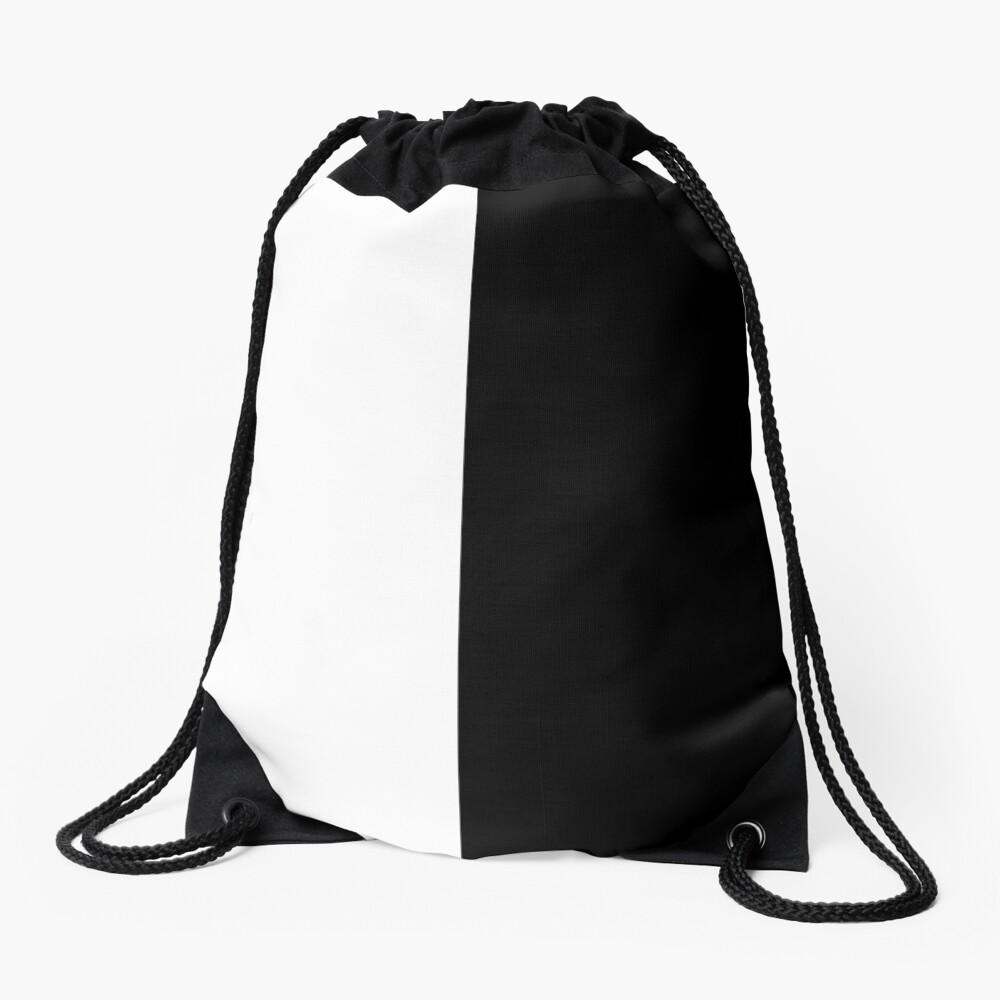 Backpack - Half White and Black Drawstring Bag