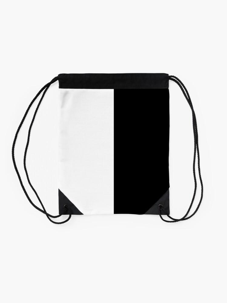 Alternate view of Backpack - Half White and Black Drawstring Bag
