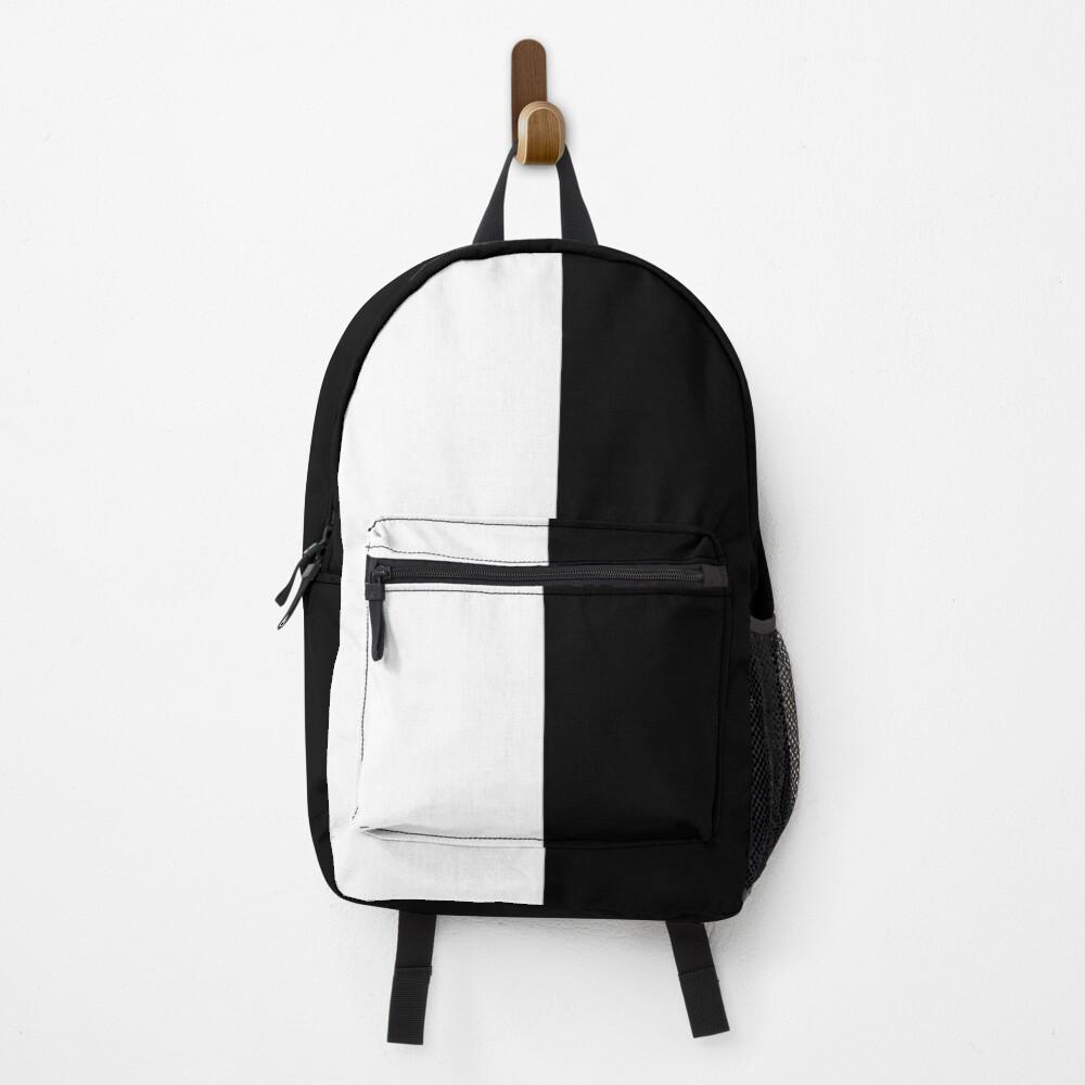 Backpack - Half White and Black Backpack