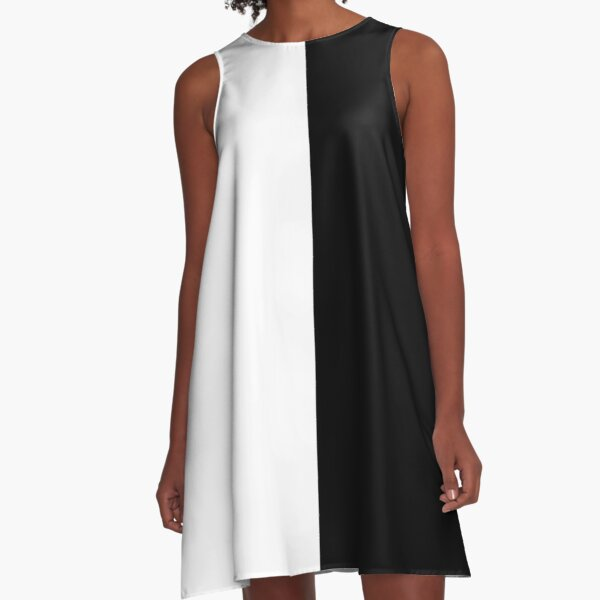 Backpack - Half White and Black A-Line Dress