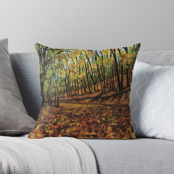 Riot of Fall Colors Throw Pillow