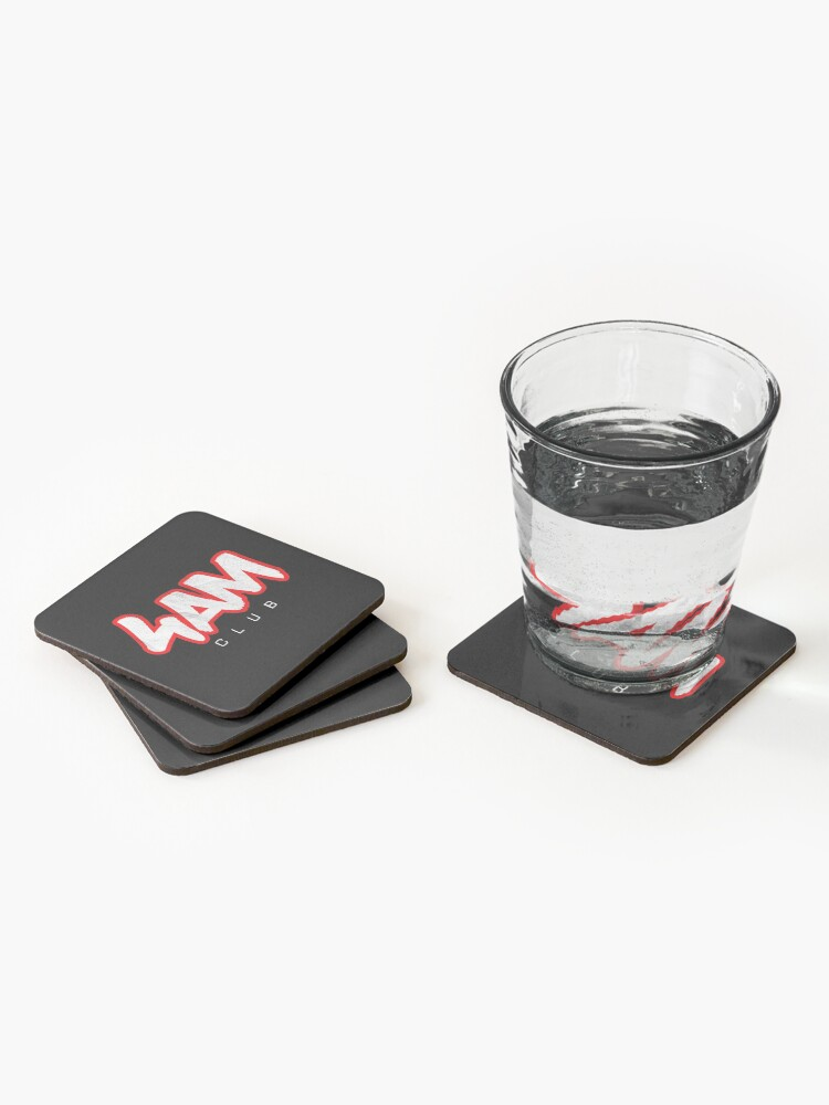 Alternate view of Gym Workout Motivation - Personal Trainer Coach - 4AM  Coasters (Set of 4)