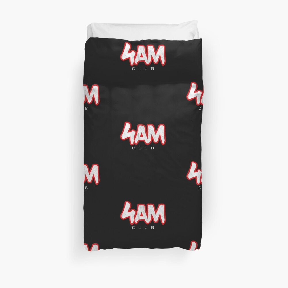 Gym Workout Motivation - Personal Trainer Coach - 4AM  Duvet Cover