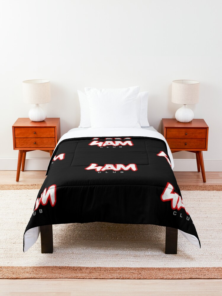 Alternate view of Gym Workout Motivation - Personal Trainer Coach - 4AM  Comforter
