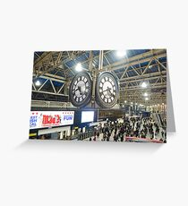 London Waterloo Station Clock Greeting Card