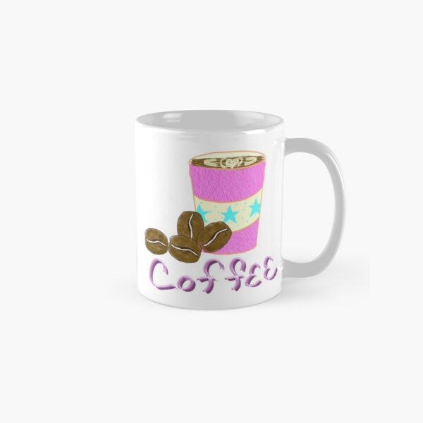 Star coffee beans and cup Classic Mug