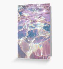 Holographische Gewässer Grußkarte