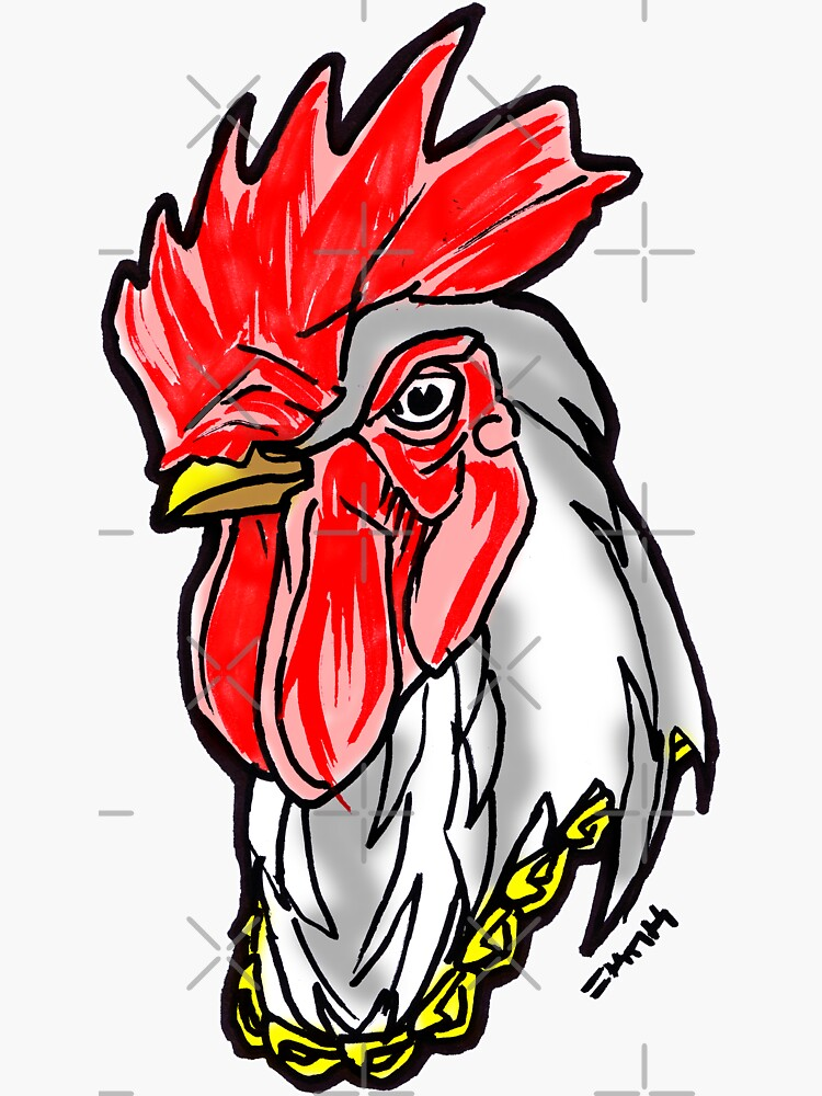 Clucking Bling Street Rooster by sketchNkustom