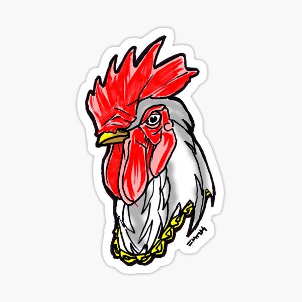 Clucking Bling Street Rooster Sticker