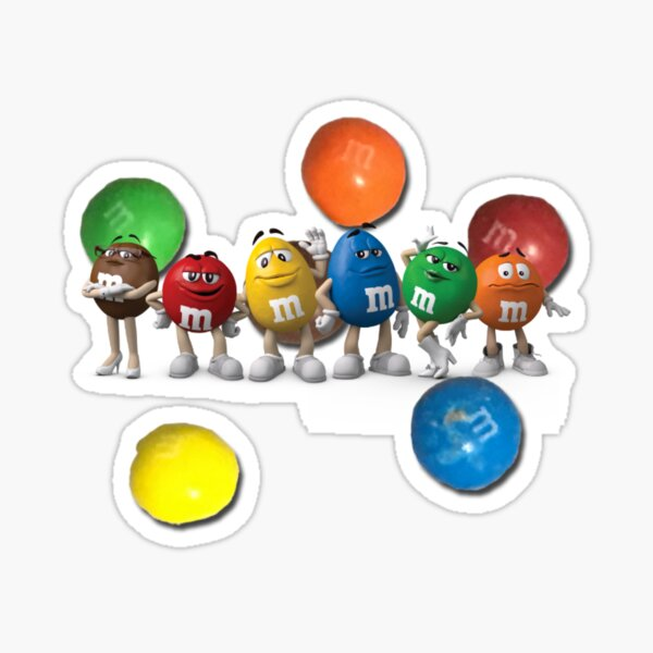 Chocolate Colour Character Sticker