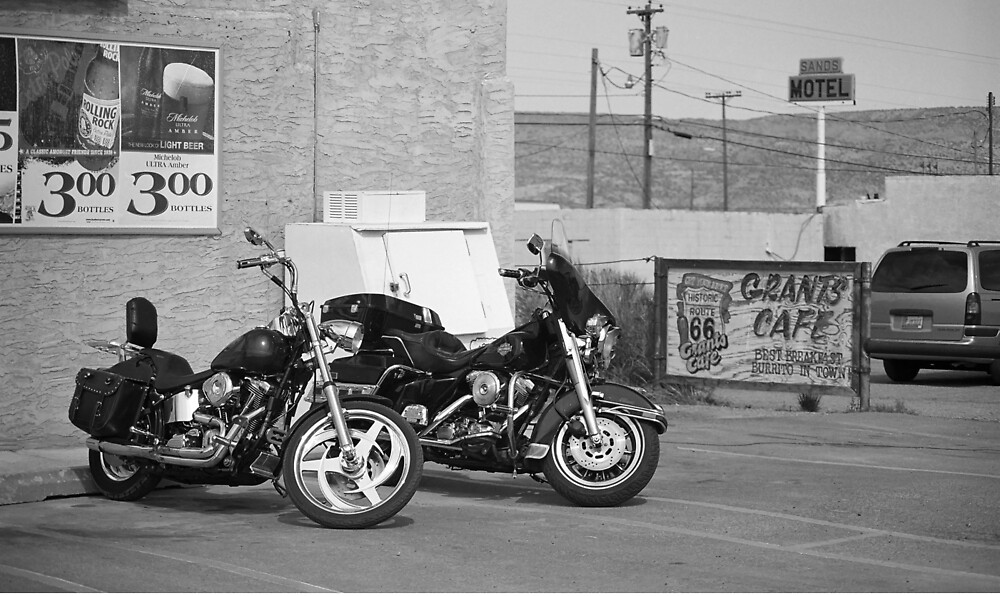 Route 66 - Grants, New Mexico Motorcycles by Frank Romeo