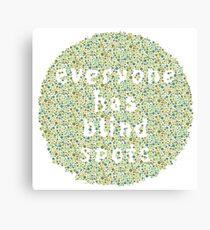 Everyone Has Their Blind Spots - V3 Ishihara Canvas Print